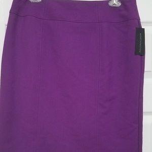 Worthington Madrid Purple Pencil Skirt